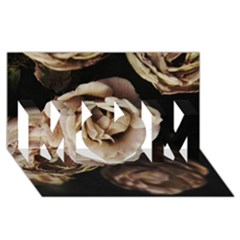 Roses Flowers Mom 3d Greeting Card (8x4)