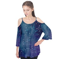 Constellations Flutter Sleeve Tee