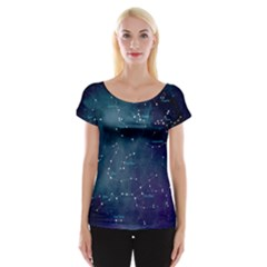 Constellations Women s Cap Sleeve Top