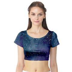 Constellations Short Sleeve Crop Top (tight Fit)