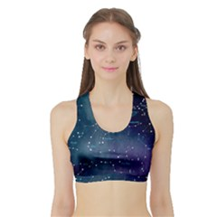 Constellations Sports Bra With Border