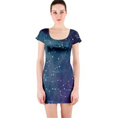 Constellations Short Sleeve Bodycon Dress