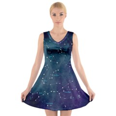 Constellations V-Neck Sleeveless Dress