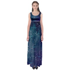Constellations Empire Waist Maxi Dress