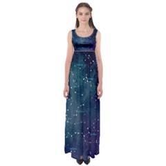 Constellations Empire Waist Maxi Dress