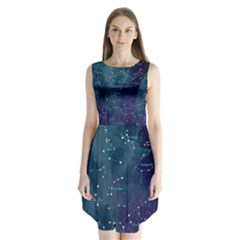 Constellations Sleeveless Chiffon Dress