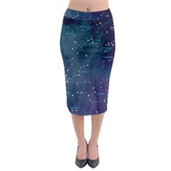 Constellations Midi Pencil Skirt