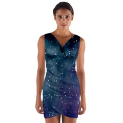 Constellations Wrap Front Bodycon Dress