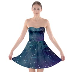 Constellations Strapless Bra Top Dress