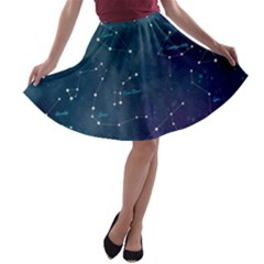 Constellations A-line Skater Skirt