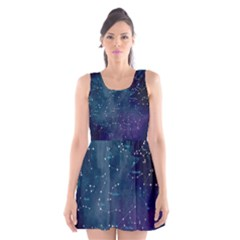 Constellations Scoop Neck Skater Dress