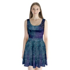 Constellations Split Back Mini Dress