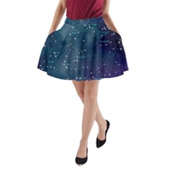 Constellations A-Line Pocket Skirt