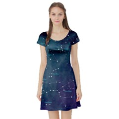 Constellations Short Sleeve Skater Dress
