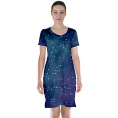 Constellations Short Sleeve Nightdress