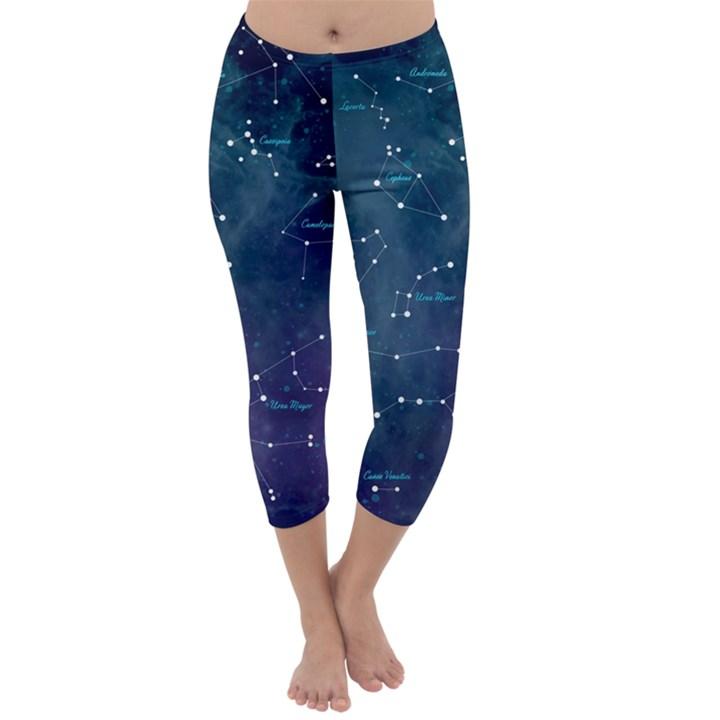 Constellations Capri Winter Leggings