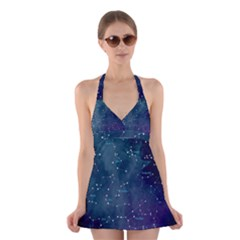 Constellations Halter Swimsuit Dress