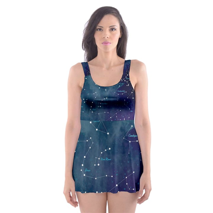 Constellations Skater Dress Swimsuit