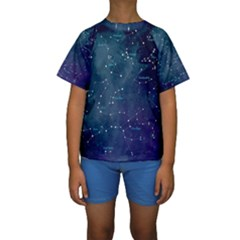 Constellations Kid s Short Sleeve Swimwear
