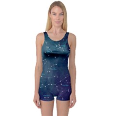 Constellations One Piece Boyleg Swimsuit