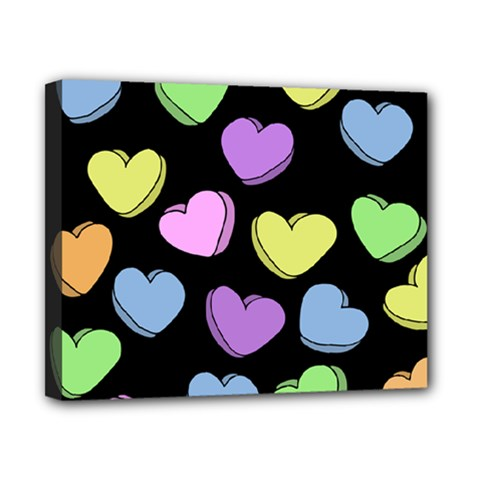 Valentine s Hearts Canvas 10  x 8