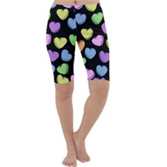 Valentine s Hearts Cropped Leggings