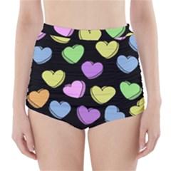 Valentine s Hearts High Waisted Bikini Bottoms