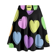 Valentine s Hearts High Waist Skirt