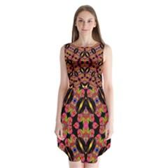 TWO HEART Sleeveless Chiffon Dress