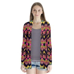 Two Heart Drape Collar Cardigan