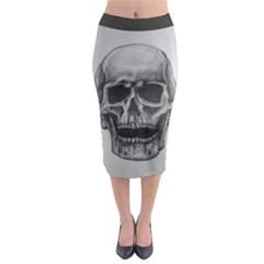 Skull Midi Pencil Skirt