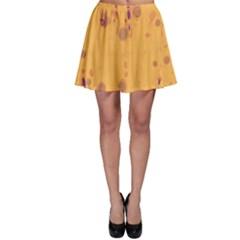 Orange decor Skater Skirt