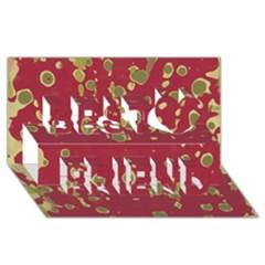 Elegant art Best Friends 3D Greeting Card (8x4)