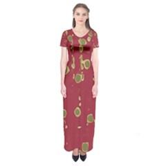 Elegant art Short Sleeve Maxi Dress