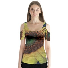 Sunflower Photography  Butterfly Sleeve Cutout Tee
