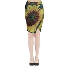 Sunflower Photography  Midi Wrap Pencil Skirt