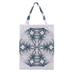 Mandala Blue And White Classic Tote Bag