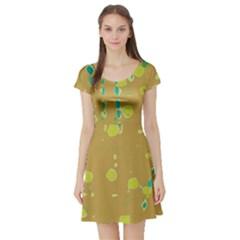 Digital art Short Sleeve Skater Dress