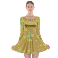 Digital art Long Sleeve Skater Dress