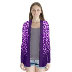 Purple Rain Drape Collar Cardigan