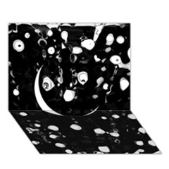 Black dream  Circle 3D Greeting Card (7x5)