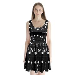 Black dream  Split Back Mini Dress