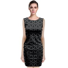Black Starrs And Cubes    Classic Sleeveless Midi Dress
