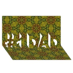 Camo Abstract Shell Pattern #1 DAD 3D Greeting Card (8x4)
