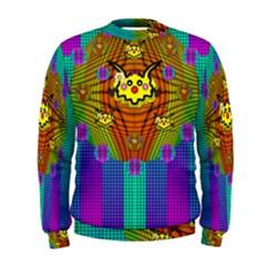 Flower Mice In Peace Balls Pop Art Men s Sweatshirt