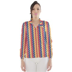 Colorful Chevron Retro Pattern Wind Breaker (women)