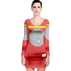 Cute face Long Sleeve Bodycon Dress