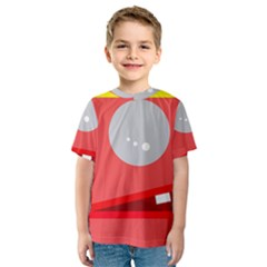 Cute face Kid s Sport Mesh Tee