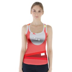 Cute Face Racer Back Sports Top