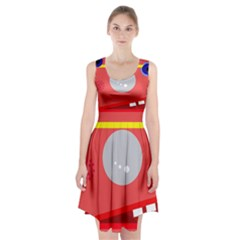 Cute face Racerback Midi Dress